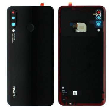 Huawei P30 Lite Midnight Black Battery Cover with Fingerprint Sensor - 02352RPV