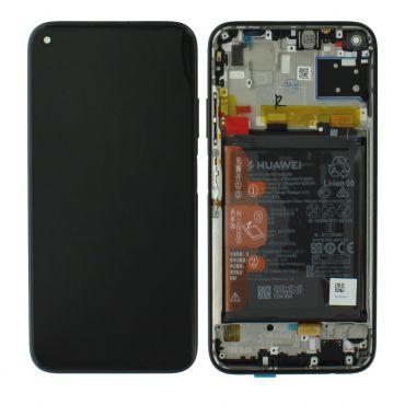 Huawei P40 Lite Midnight Black LCD Screen & Digitizer with Battery - 02353KFU