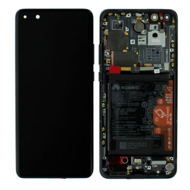 Huawei P40 Pro Black LCD Screen & Digitizer with Battery - 02353PJG