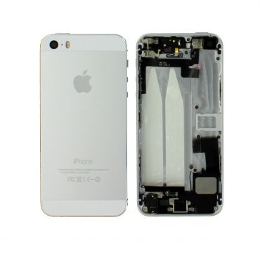 Apple iPhone 5S Rear Housing With Components - White