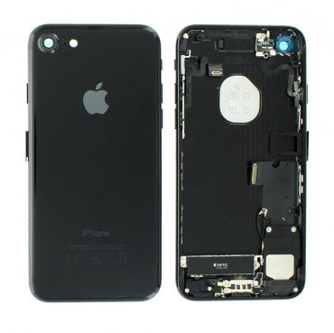 Apple iPhone 7 Rear Housing With Components - Jet Black