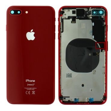 Apple iPhone 8 Plus Rear Housing With Components - Red