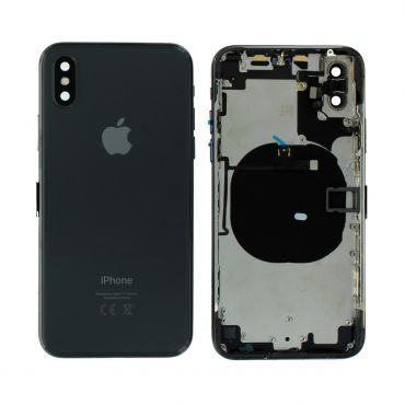 Apple iPhone X Rear Housing With Components - Space Grey