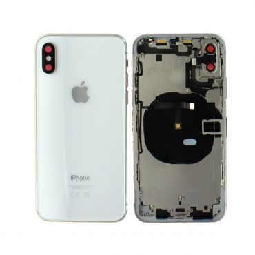 Apple iPhone XS Rear Housing With Components - Silver