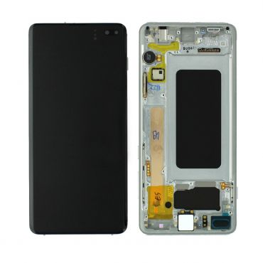 Samsung SM-G975 Galaxy S10 Plus LCD Display / Screen + Touch - Prism White GH82-18849B