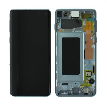 Samsung SM-G973 Galaxy S10 LCD Display / Screen + Touch - Prism Blue GH82-18850C