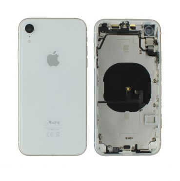 Apple iPhone XR Rear Housing With Components - White