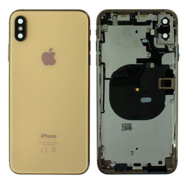 Apple iPhone XS Max Rear Housing With Components - Gold