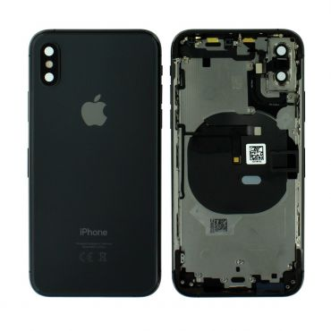 Apple iPhone XS Rear Housing With Components - Space Grey